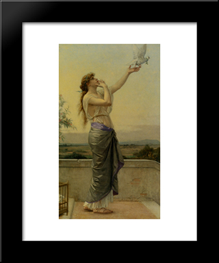 Love Messenger:  Modern Black Framed Art Print by Alexandre Cabanel