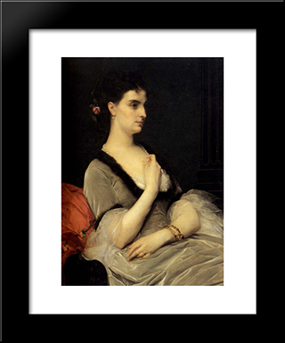 Portrait Of Countess E.A. Vorontova-Dashkova:  Modern Black Framed Art Print by Alexandre Cabanel