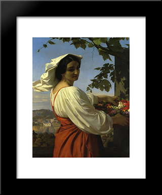 The Chiarrucia:  Modern Black Framed Art Print by Alexandre Cabanel