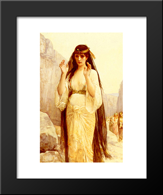 The Daughter Of Jephthah:  Modern Black Framed Art Print by Alexandre Cabanel
