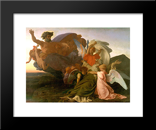 The Death Of Moses:  Modern Black Framed Art Print by Alexandre Cabanel