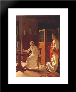 Morning Of The Landlady:  Modern Black Framed Art Print by Alexey Venetsianov