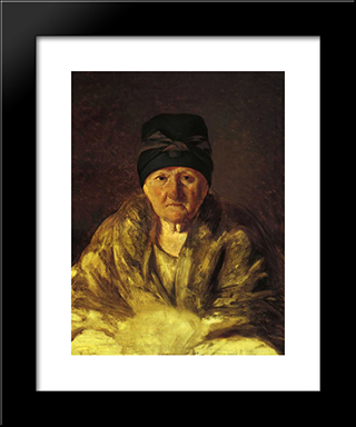 Old Nurse In Shlychkov:  Modern Black Framed Art Print by Alexey Venetsianov
