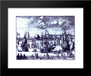St. Petersburg. View Of The Peter And Paul Fortress.:  Modern Black Framed Art Print by Alexey Zubov