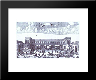 View Of The Gagarin'S Moscow Mansion From The Courtyard:  Modern Black Framed Art Print by Alexey Zubov