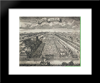 View Of The Summer Gardens From The Neva River:  Modern Black Framed Art Print by Alexey Zubov