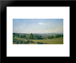 All In The Blue Unclouded Weather:  Modern Black Framed Art Print by Alfred Parsons
