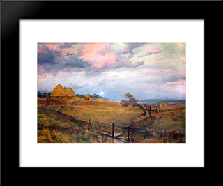 On The Cotswolds:  Modern Black Framed Art Print by Alfred Parsons