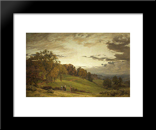 The Manor Park:  Modern Black Framed Art Print by Alfred Parsons