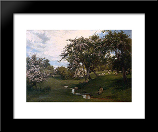 When Nature Painted All Things Gay:  Modern Black Framed Art Print by Alfred Parsons