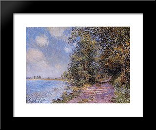 An August Afternoon Near Veneux:  Modern Black Framed Art Print by Alfred Sisley