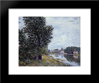 At Moret Sur Loing:  Modern Black Framed Art Print by Alfred Sisley