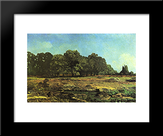 Avenue Of Chestnut Trees Near La Celle Saint Cloud:  Modern Black Framed Art Print by Alfred Sisley