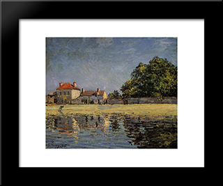 Banks Of The Loing, Saint Mammes:  Modern Black Framed Art Print by Alfred Sisley