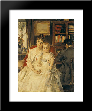 All Happiness:  Modern Black Framed Art Print by Alfred Stevens