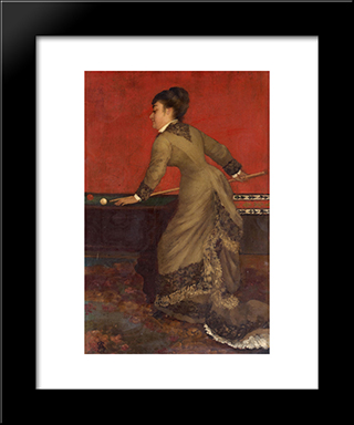 Elegant At Billiards:  Modern Black Framed Art Print by Alfred Stevens
