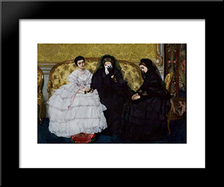 In Memoriam:  Modern Black Framed Art Print by Alfred Stevens
