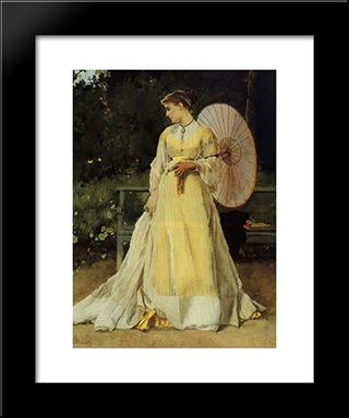 In The Country:  Modern Black Framed Art Print by Alfred Stevens