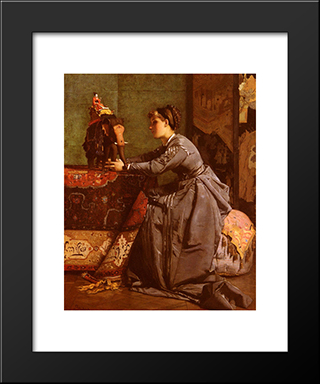India In Paris:  Modern Black Framed Art Print by Alfred Stevens