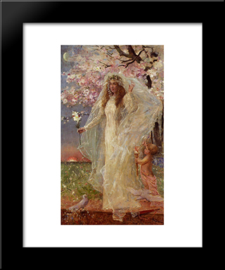 Love And Marriage:  Modern Black Framed Art Print by Alfred Stevens
