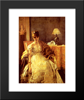 Lovelorn:  Modern Black Framed Art Print by Alfred Stevens
