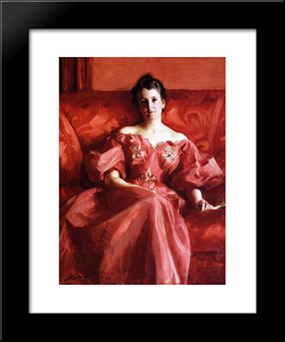 Portrait Of Mrs. Howe:  Modern Black Framed Art Print by Alfred Stevens