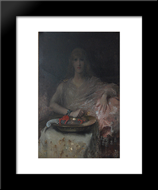 Salome:  Modern Black Framed Art Print by Alfred Stevens