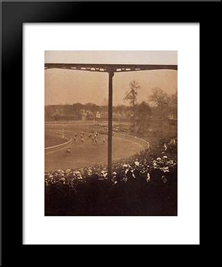 Going To The Start:  Modern Black Framed Art Print by Alfred Stieglitz