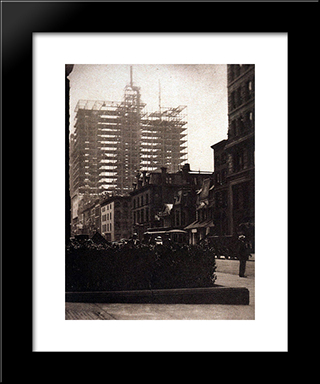 Old And New New York:  Modern Black Framed Art Print by Alfred Stieglitz