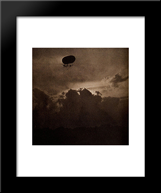 The Dirigible:  Modern Black Framed Art Print by Alfred Stieglitz
