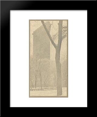 The Flatiron Building:  Modern Black Framed Art Print by Alfred Stieglitz