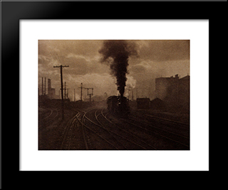 The Hand Of Man:  Modern Black Framed Art Print by Alfred Stieglitz