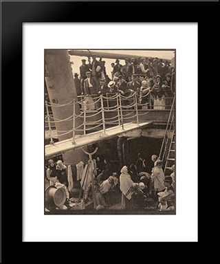The Steerage:  Modern Black Framed Art Print by Alfred Stieglitz