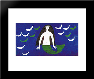 Sereia:  Modern Black Framed Art Print by Alfredo Volpi