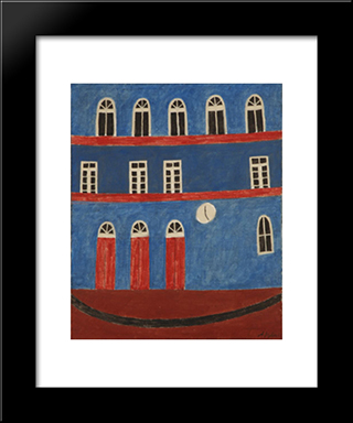 Unknown Title:  Modern Black Framed Art Print by Alfredo Volpi