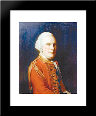 General Sir James Abercromby (Also Spelled Abercrombie):  Modern Black Framed Art Print by Allan Ramsay