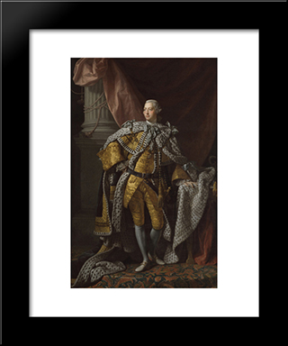 George Iii:  Modern Black Framed Art Print by Allan Ramsay