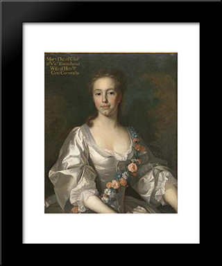 Hon. Mary Townshend, The Daughter Of Charles Townshend, 2Nd Viscount Townshend Of Raynham And Dorothy Walpole:  Modern Black Framed Art Print by Allan Ramsay