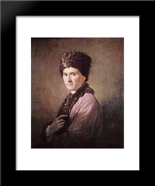 Jean Jacques Rousseau:  Modern Black Framed Art Print by Allan Ramsay