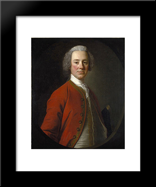 John Campbell, 4Th Earl Of Loudoun:  Modern Black Framed Art Print by Allan Ramsay