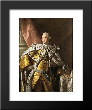 King George Iii:  Modern Black Framed Art Print by Allan Ramsay