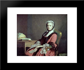 Lady Holland:  Modern Black Framed Art Print by Allan Ramsay