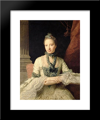 Lady Susan Fox-Strangways:  Modern Black Framed Art Print by Allan Ramsay