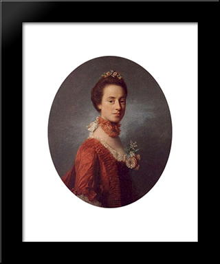 Mary Digges (1737-1829) Lady Robert Manners:  Modern Black Framed Art Print by Allan Ramsay