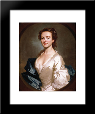 Miss Craigie:  Modern Black Framed Art Print by Allan Ramsay