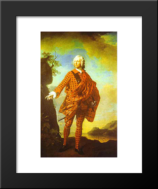 Norman The Red Man, 22Nd Chief Of Macleod:  Modern Black Framed Art Print by Allan Ramsay