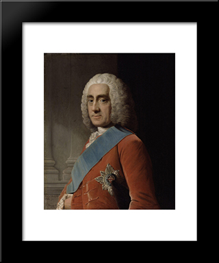 Philip Dormer Stanhope, 4Th Earl Of Chesterfield:  Modern Black Framed Art Print by Allan Ramsay