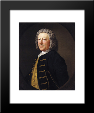 Portrait Of A Naval Officer:  Modern Black Framed Art Print by Allan Ramsay