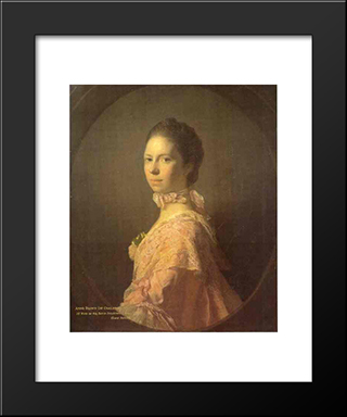 Portrait Of Anne Brown:  Modern Black Framed Art Print by Allan Ramsay