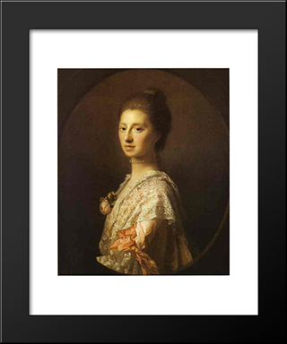 Portrait Of Anne Bruce, Mrs. Bruce Of Arnot:  Modern Black Framed Art Print by Allan Ramsay